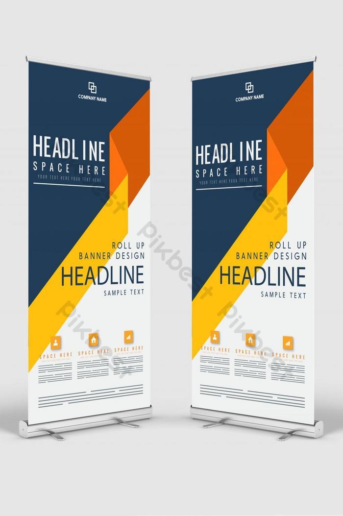 conception de bannière verticale enseigne publicitaire brochure flyer template vector x banner