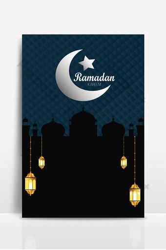 ramadan kareem latar belakang kartu ucapan yang indah Latar belakang Templat PSD