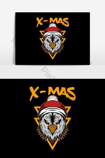 elemento gráfico de vector de águila de navidad feliz navidad Elementos graficos Modelo EPS