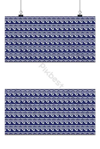 Fondo de patrón de onda de mar azul japonés Fondos Modelo PSD