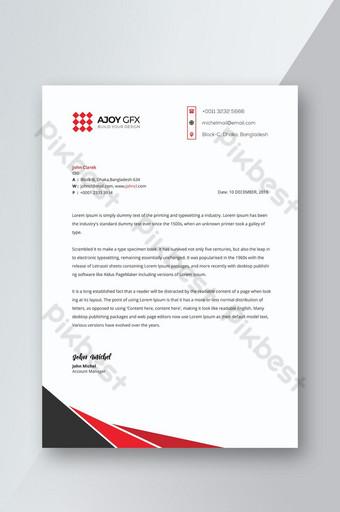 Conception de papier à en-tête d'entreprise Modèle PSD