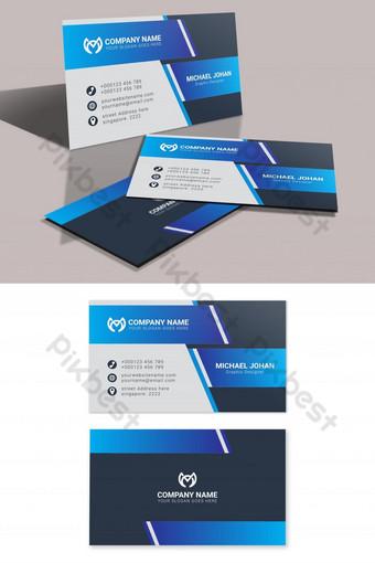 Cartes de visite bleues fraîches Modèle AI