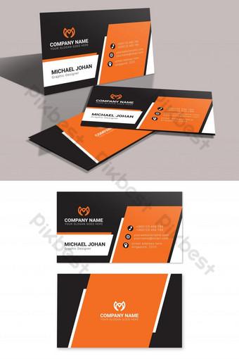 بطاقات عمل برتقالية وسوداء قابلة للطباعة قالب AI