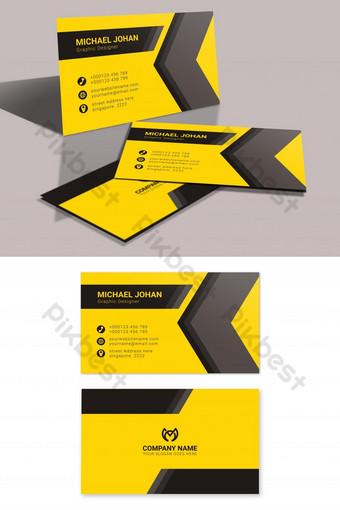 cartes de visite jaunes et noires accrocheuses Modèle AI