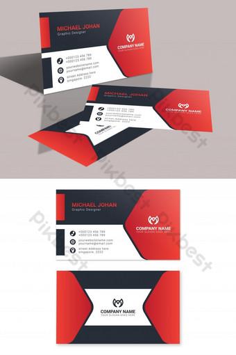 بطاقات عمل حمراء قابلة للطباعة قالب AI