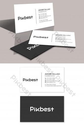 Modèle de carte de visite minimaliste simple et propre Modèle PSD