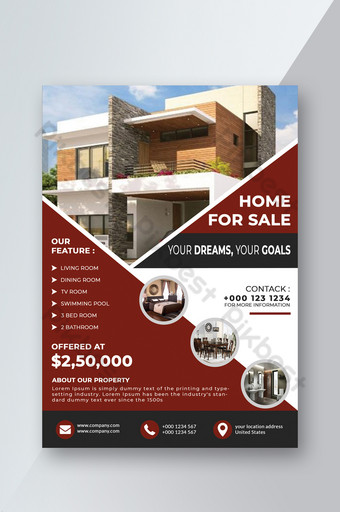 folleto de bienes raíces Modelo PSD