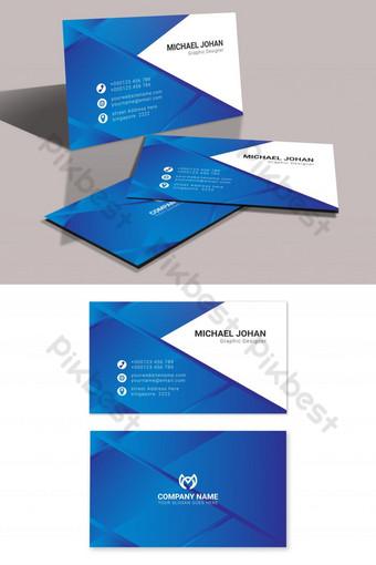 Conception de carte de visite élégante bleue élégante Vecteur gratuit Modèle AI