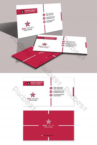 Carte de visite propre d'entreprise créative Modèle PSD