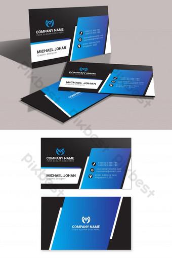 impression de cartes de visite en noir et bleu Modèle AI