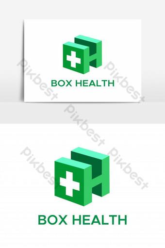 elemento gráfico de vector de logotipo de salud de caja Elementos graficos Modelo EPS