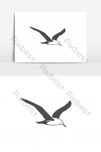 seagull vector graphic element PNG Images Template EPS