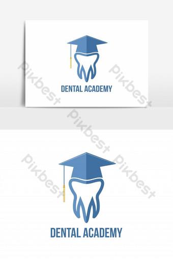 elemento gráfico del vector del logotipo de la academia dental Elementos graficos Modelo EPS