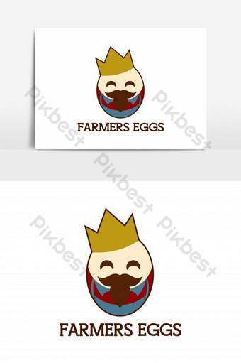 granjeros huevo rey mascota vector elemento gráfico Elementos graficos Modelo EPS