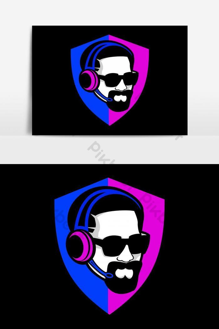 Elemen Grafis Vektor Logo Game Perisai Pria Keren Elemen Grafis Templat Eps Unduhan Gratis Pikbest