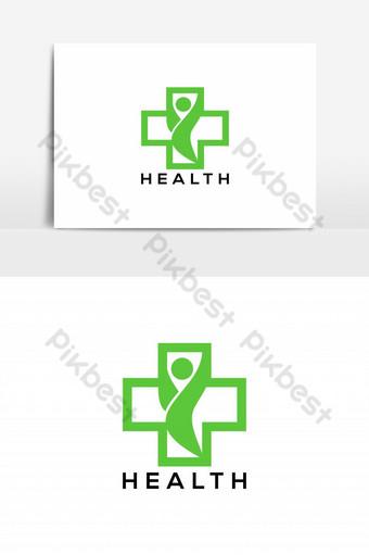 elemento gráfico de vector de logotipo de salud feliz Elementos graficos Modelo EPS