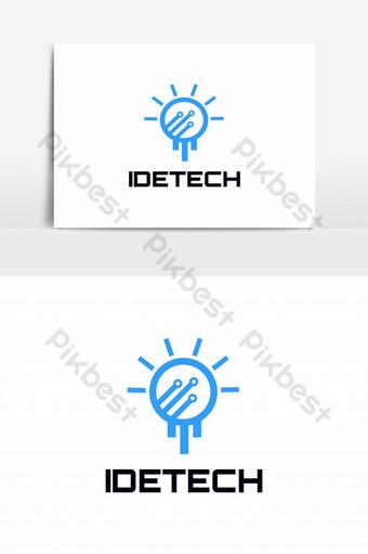 elemen grafis ide logo teknologi vektor Elemen Grafis Templat EPS