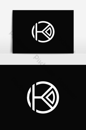 elemento gráfico de vector de logotipo de círculo k Elementos graficos Modelo EPS