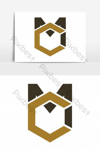 elemento gráfico de vector logo mc Elementos graficos Modelo EPS