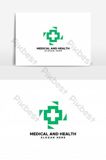 elemento gráfico de vector de logotipo médico y de salud Elementos graficos Modelo EPS
