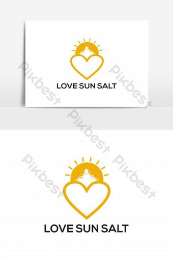 amor sol sal logo vector elemento gráfico Elementos graficos Modelo EPS