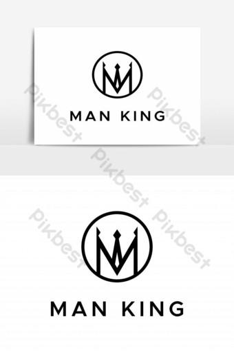 elemento gráfico de vector de logotipo de hombre rey Elementos graficos Modelo EPS