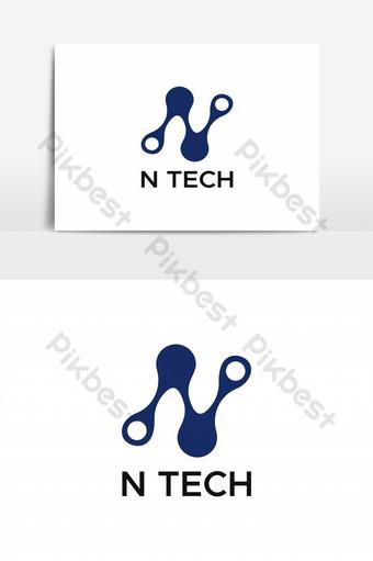 n vector logo de tecnología Elementos graficos Modelo EPS