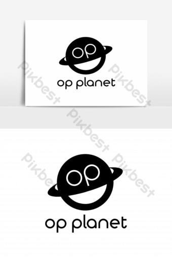 vector de logo de planeta op Elementos graficos Modelo EPS