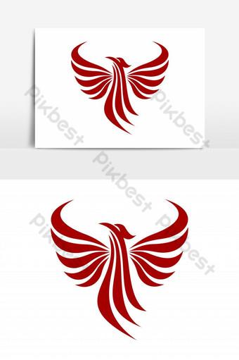 vector logo abstracto phoenix Elementos graficos Modelo EPS