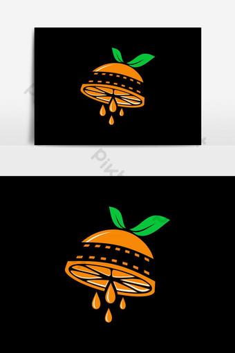 vector de logo de película naranja Elementos graficos Modelo EPS