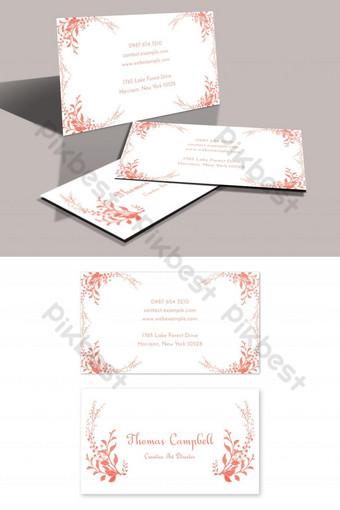 Carte de visite de style floral rose Modèle PSD