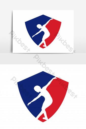 elemento gráfico de vector de logo de deportes de baile Elementos graficos Modelo EPS