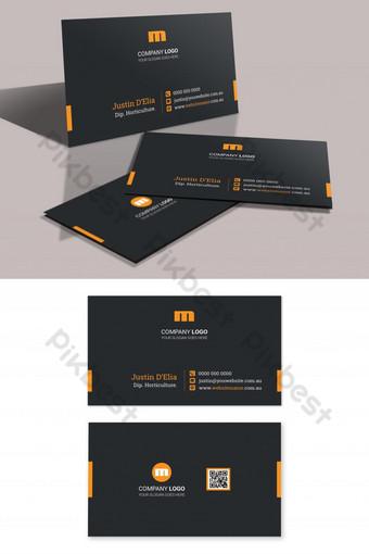 موضوع الظلام بطاقة الأعمال الذهبية السوداء قالب PSD