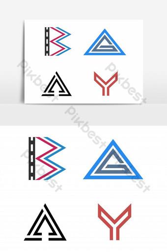 logo letra b película triángulo g a flecha arriba y casco cara espartana elemento gráfico vectorial Elementos graficos Modelo EPS