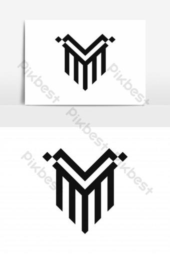 elemento gráfico del vector del logotipo del escudo v Elementos graficos Modelo EPS
