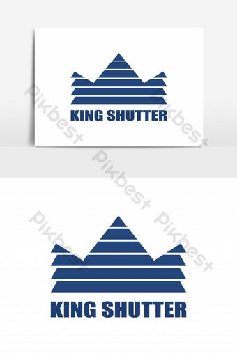 elemento gráfico del vector del logotipo de la ventana del obturador rey Elementos graficos Modelo EPS