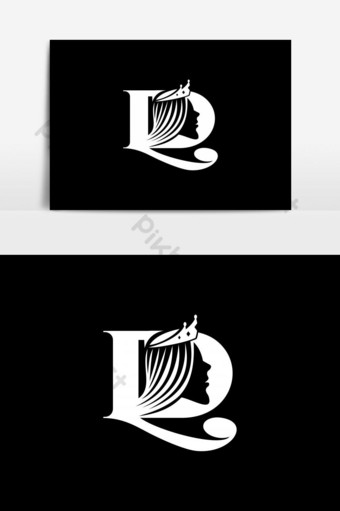 elemento gráfico de vector de logotipo de decoración femenina ld Elementos graficos Modelo EPS
