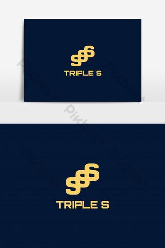 elemento gráfico de vector logo triple s Elementos graficos Modelo EPS