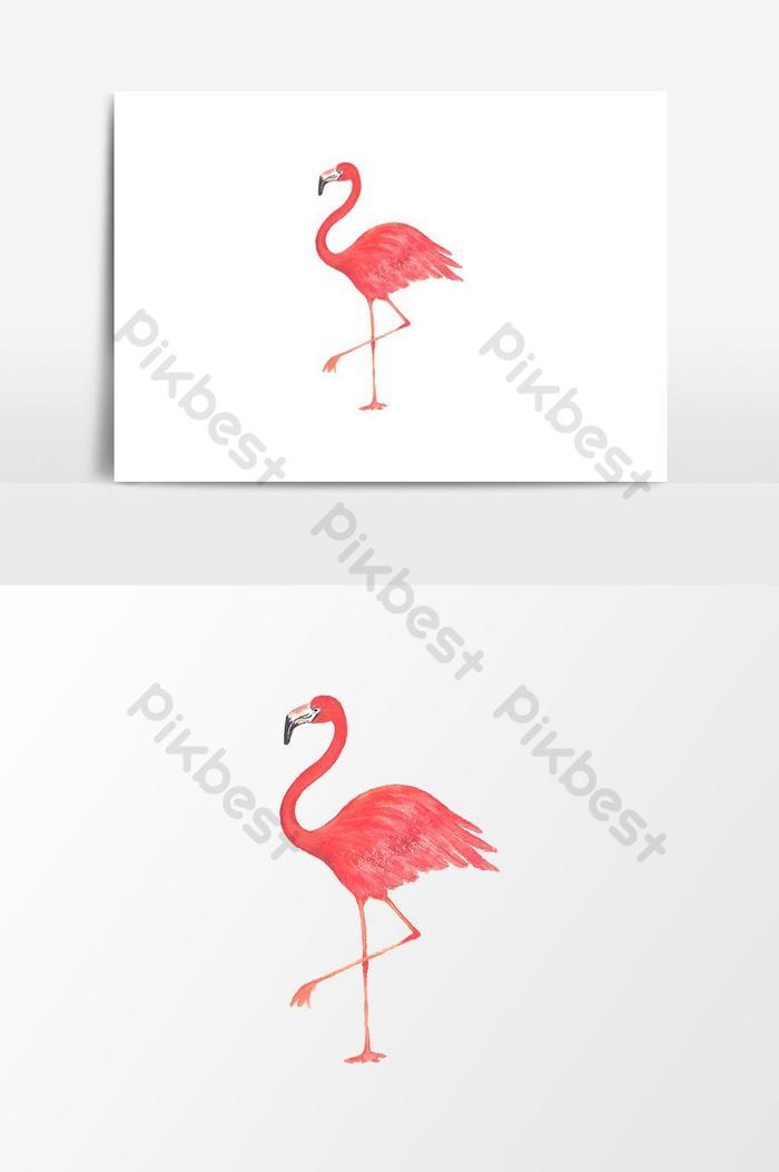 Elemen Grafik Vektor Burung Flamingo Cat Air Elemen Grafik Psd Percuma Muat Turun Pikbest