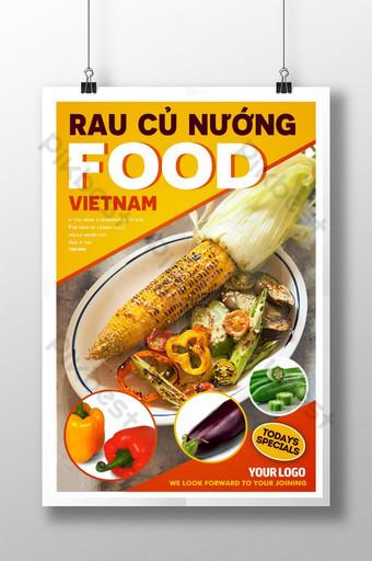 poster quảng cáo món ăn việt nam hiện đại Bản mẫu PSD