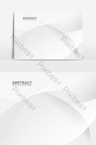 Fondo blanco y gris de estilo abstracto con líneas suaves elemento gráfico vectorial Elementos graficos Modelo EPS