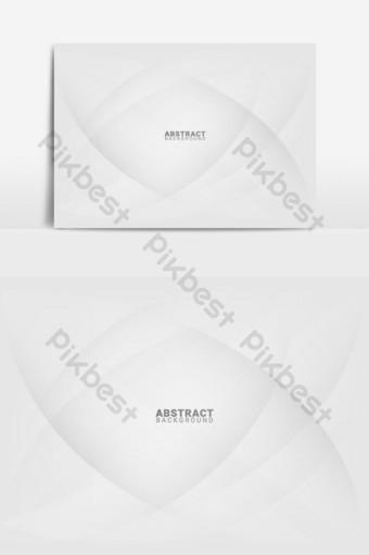 Fondo abstracto blanco y gris con líneas suaves elemento gráfico vectorial Elementos graficos Modelo EPS