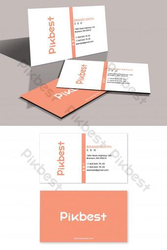 Carte de visite minimaliste et simple Modèle PSD