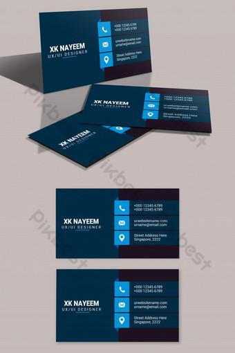 Carte de visite professionnelle de nettoyage bleu foncé Modèle PSD