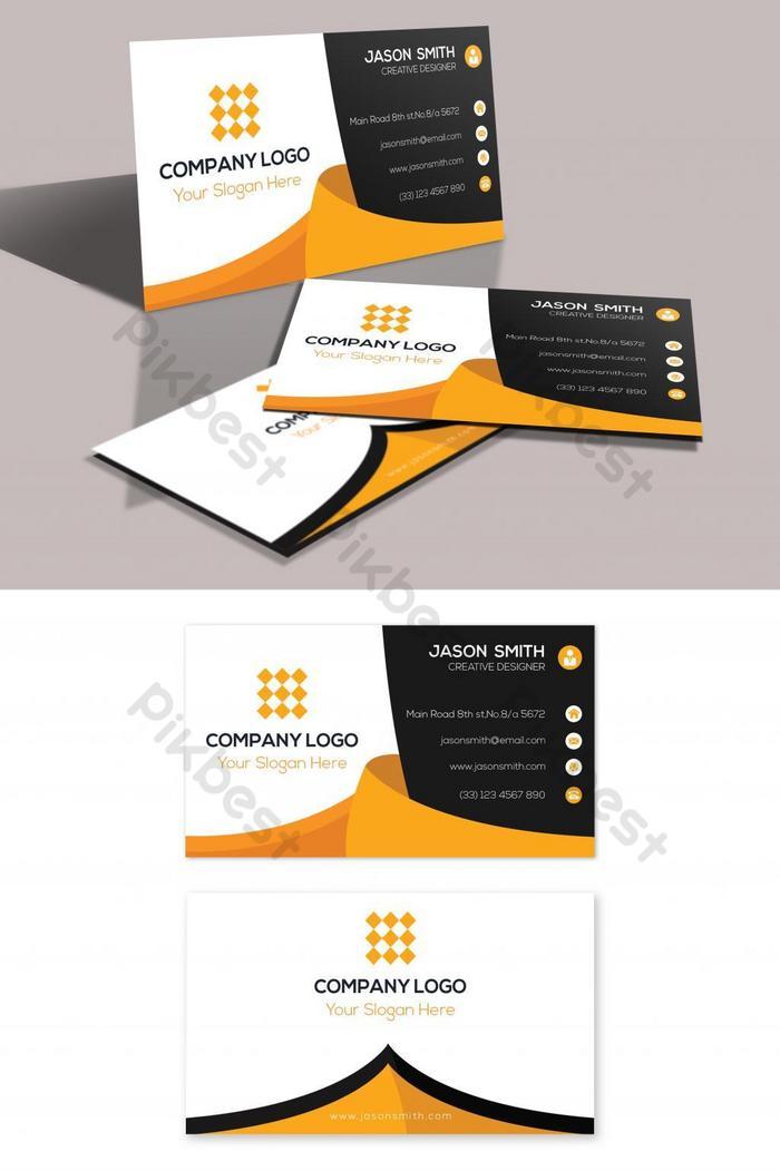 kad perniagaan emas dan hitam moden