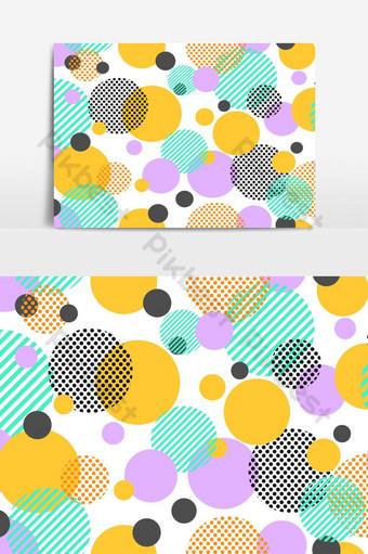 Patrón sin fisuras de puntos coloridos y elemento gráfico de vector de círculo geométrico Elementos graficos Modelo AI