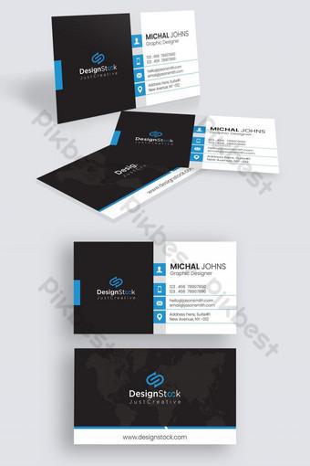 diseño de plantilla de tarjeta de visita corporativa moderna azul Modelo AI