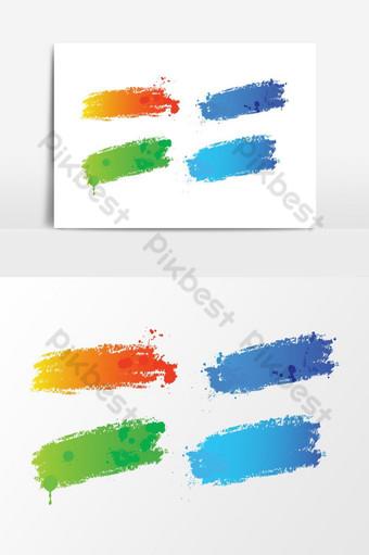 elemento gráfico de vector de salpicadura multicolor dibujado a mano Elementos graficos Modelo AI
