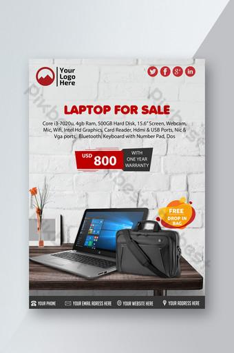 selebaran promosi penjualan laptop Templat PSD
