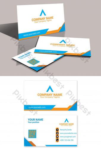 kartu bisnis kuning kreatif eps kartu nama yang dapat diedit Templat AI
